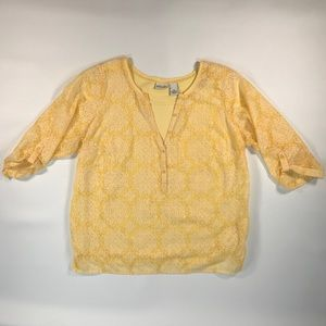 Kim Rodgers plus size yellow blouse 1x